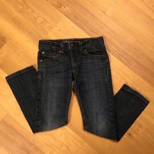 Girls Levi's Slim Straight Jeans Size 7 Regular
